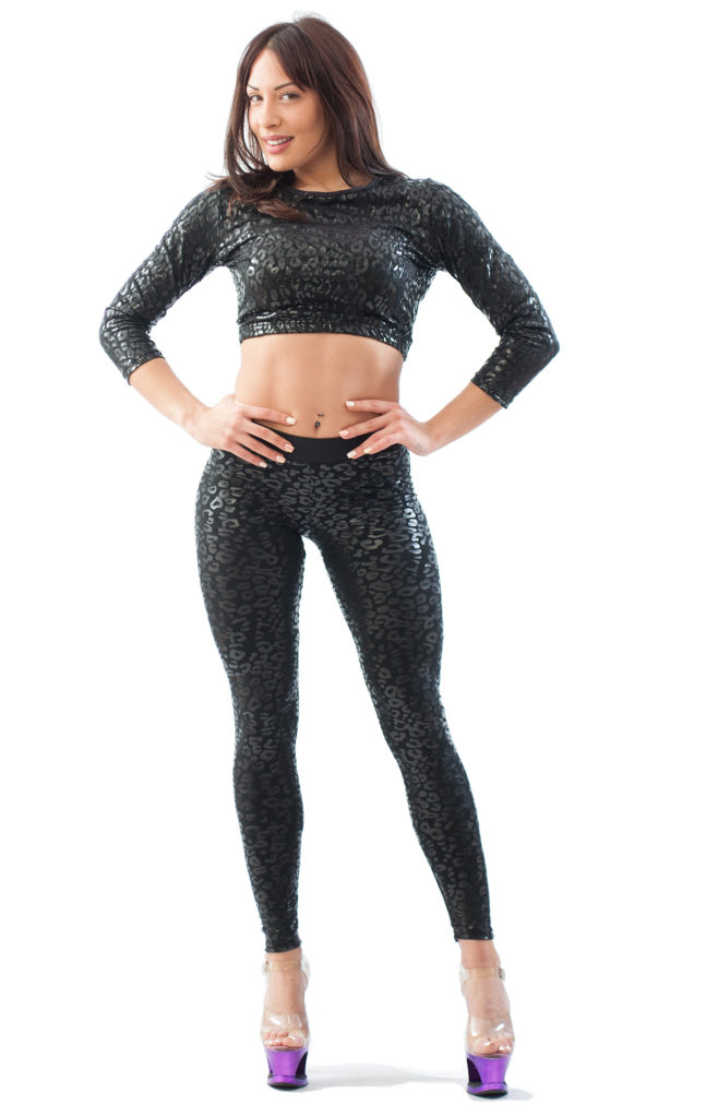 LEGGINGS STICKY SUPERHERO LEOPARD