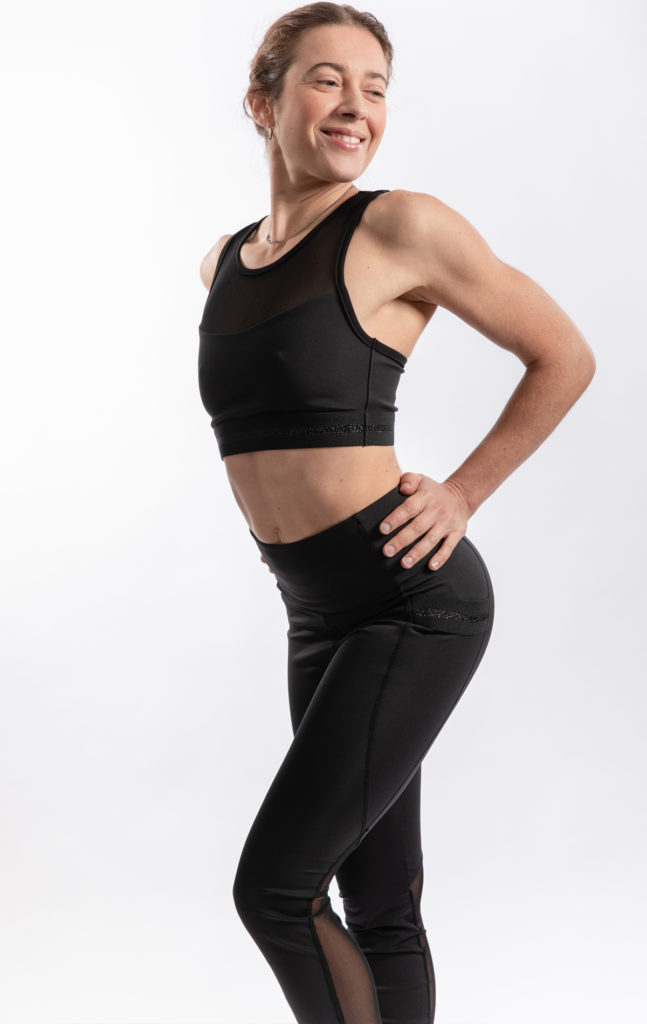 "LEGGINGS ""JOANA"" MESH BLACK"