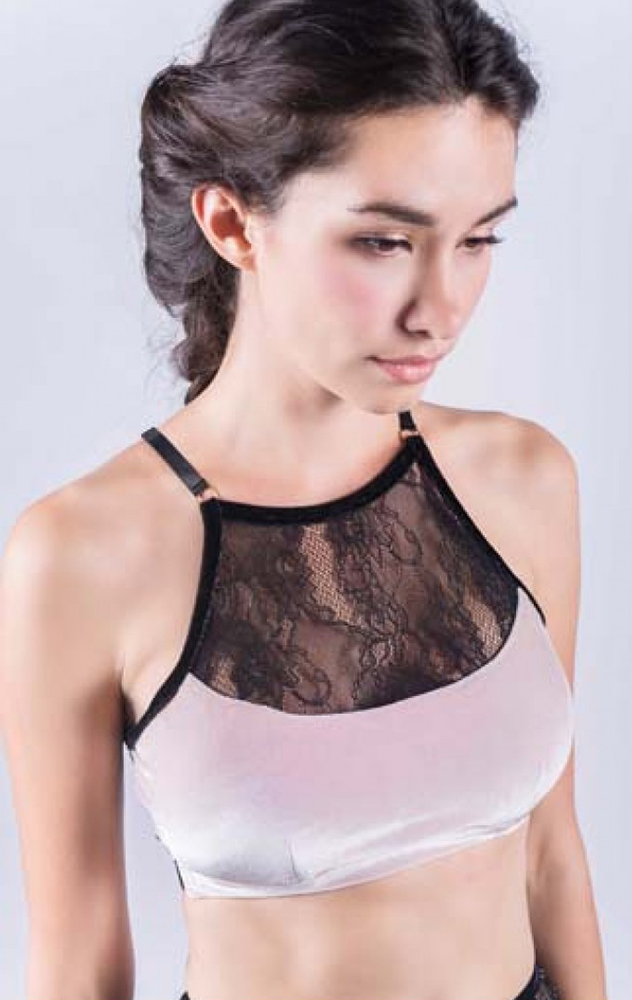 PINK SWAN LACE-TOP