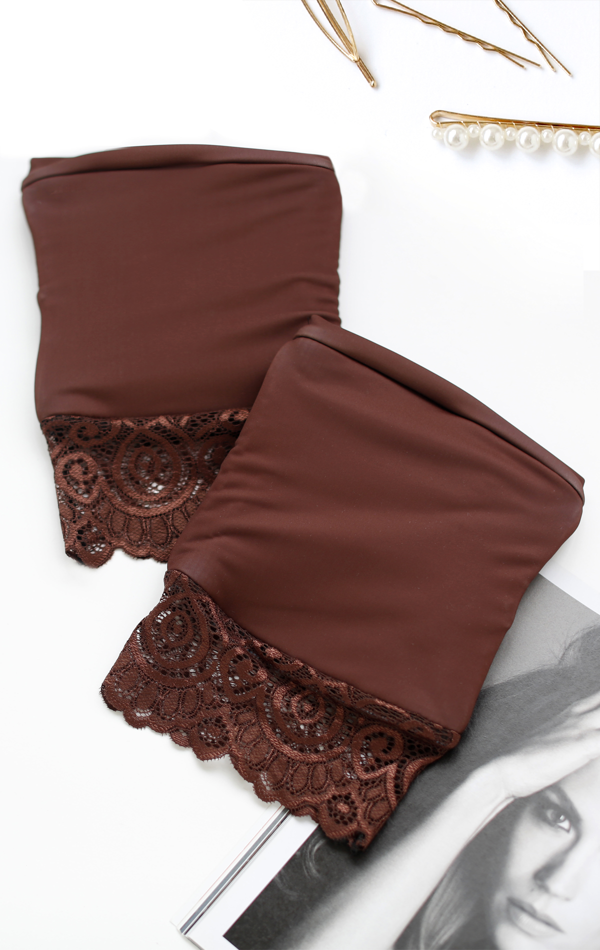 KNEE PADS CINNAMON LACE