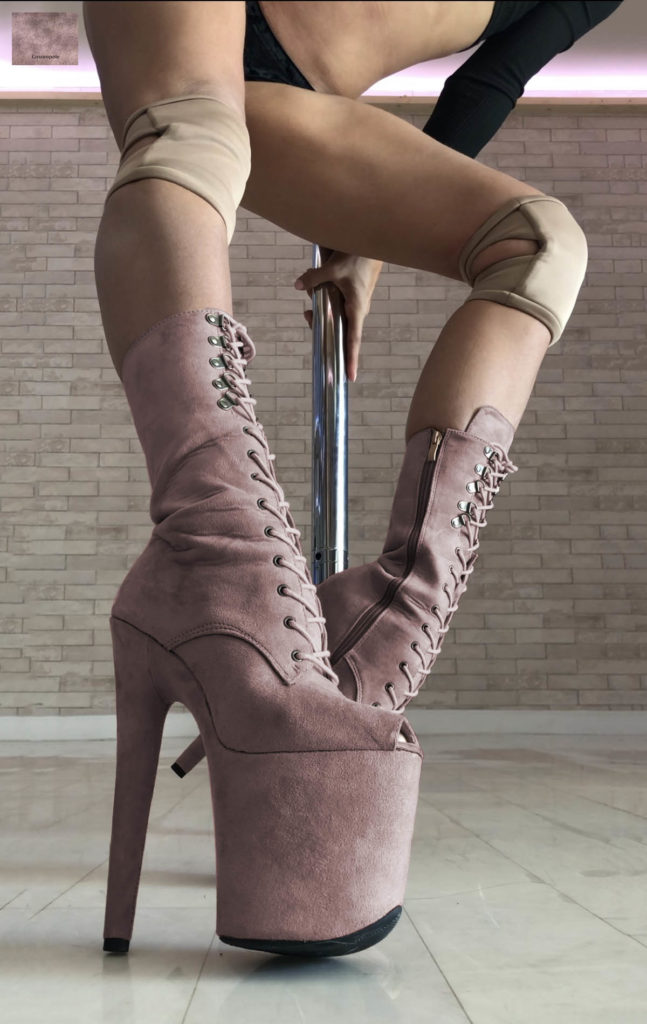 COSMOPOLE CUSTOMIZED SUEDE BOOTS