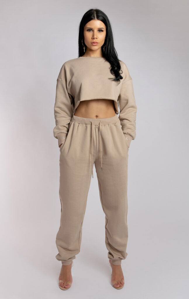 OVERSIZED CROPPED JUMPER FAWN