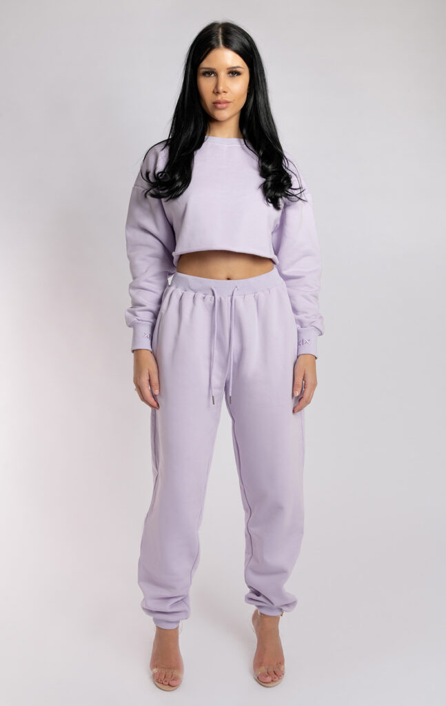 OVERSIZED CROPPED JUMPER LILAC