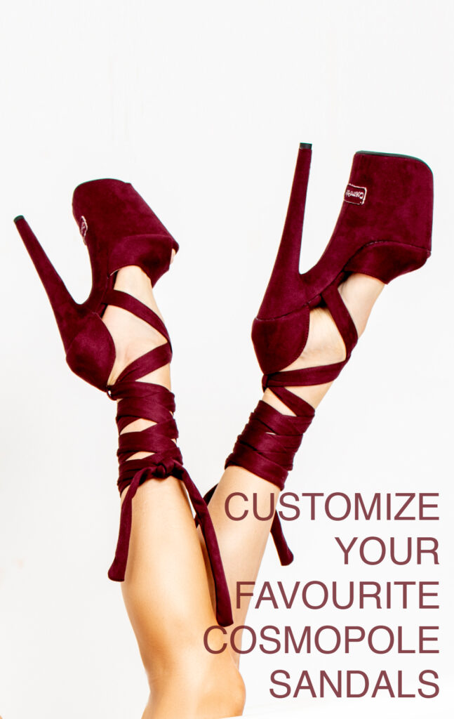 COSMOPOLE CUSTOMIZED SUEDE SANDALS OPEN TOES