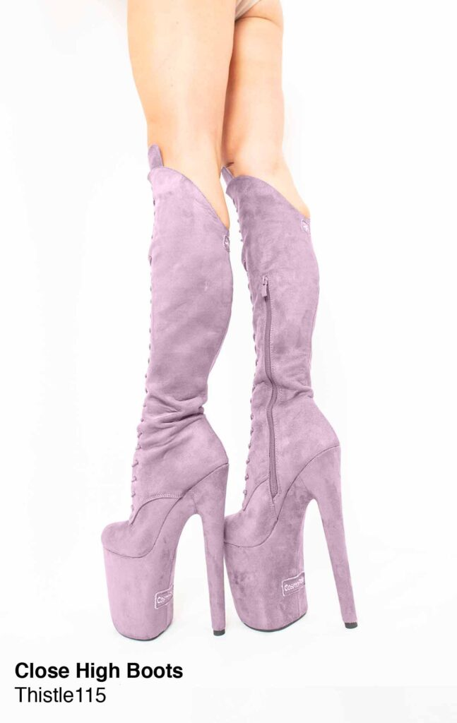 """COSMOPOLE SUEDE HIGH BOOTS THISTLE CLOSED TOES / 8"""""""