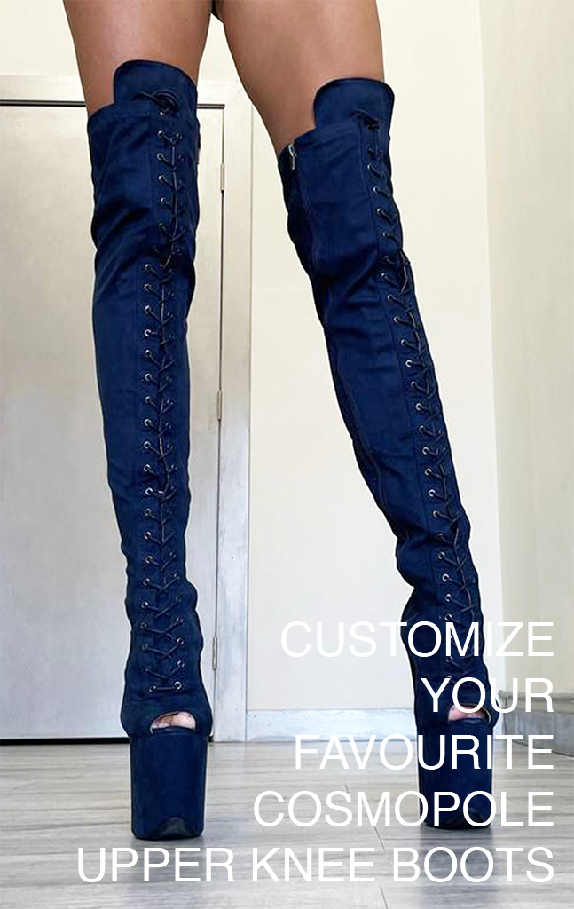 COSMOPOLE CUSTOMIZED UPPER KNEE BOOTS