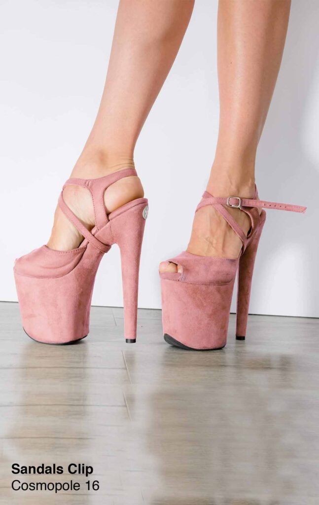 """COSMOPOLE SUEDE SANDALS WITH CLIP COSMOPOLE OPEN TOES / 8"""""""